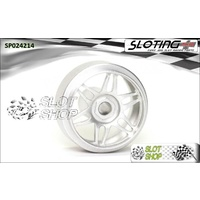 Sloting Plus SP024214 Duraluminium Wheels (16.9 x 9mm) - Monaco