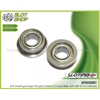 Sloting Plus SP055001 Ball bearings (single flange) 2.36mm (Compatible with NSR & Thunderslot)