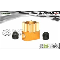 Sloting Plus SP085110 Adjustable Brass Pinion - 10 Tooth (6.5 mm)