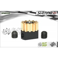Sloting Plus SP085112 Adjustable Brass Pinion - 12 Tooth (6.5 mm)