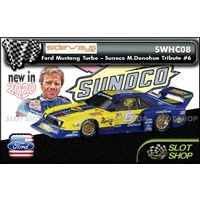 Sideways Ford Mustang Turbo - Sunoco  Mark Donohue tribute #6 Ltd Edition of 696