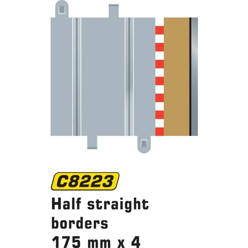 Scalextric C8223 Half Straight Borders