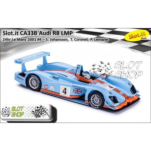 Slot.it CA33B Audi R8 LMP 2001 #4 Gulf