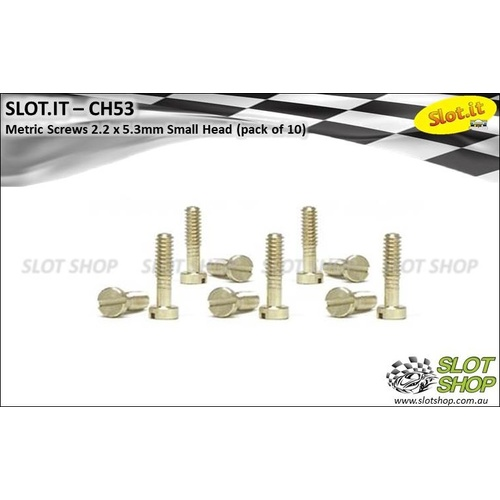 Slot.it CH53 Metric Brass Screws - Small Head (2.2 x 5.3mm)
