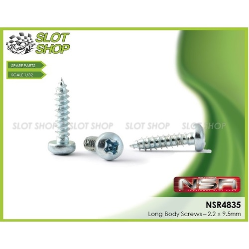 NSR 4835 Body Screws - Long (2.2 x 9.5mm)