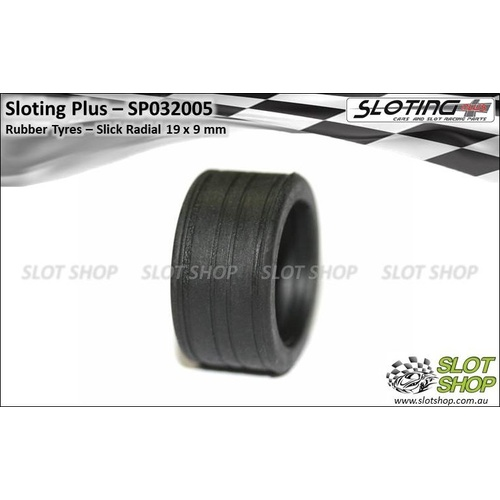 Sloting Plus SP032005 Rubber Tyres SR4 (19 x 9mm)