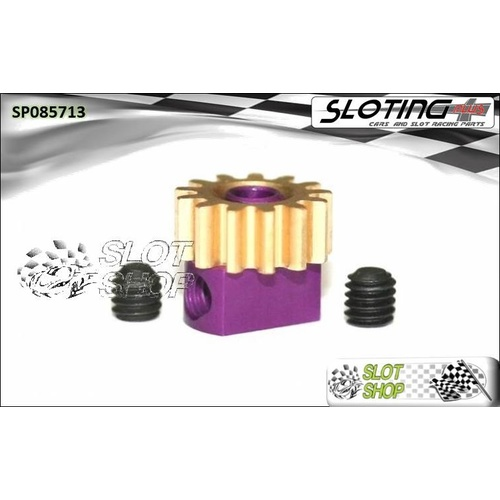 Sloting Plus SP085713 Adjustable Brass Pinion - 13 Tooth (7.5 mm)