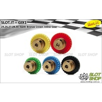 Slot.it GIX1 Inline Crown - Bronze Insert (24, 26, 27, 28, 30 Tooth)